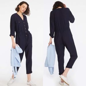 Lou & Grey Navy Blue Lightweight Utility Jumpsuit